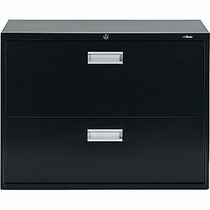 Staples Lateral File Cabinet, 2-Drawer, Black