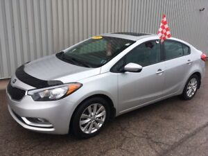 2014 Kia Forte 1.8L LX+ 6 SPEED WITH FACTORY WARRANTY, SOLID...