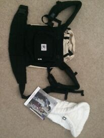 Ergobaby carrier. Black. Excellently condition. With new born insert and instruction book