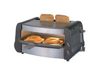 small combined grill & toaster - new unused - ideal for student hall of residence or bedsit