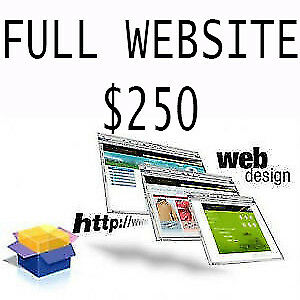 COMPLETE WEB DESIGN STARTING AT $250 @ FREE HOSTING FOR 1 YEAR