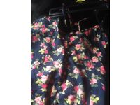 Medium floral playsuit never been worn