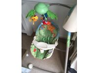 Fisher Price Rainforest Open Top Cradle Baby Swing