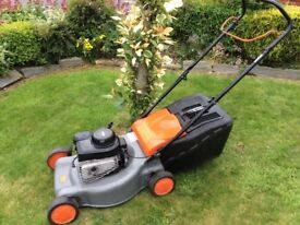 Flymo Quick silver 46s model petrol lawnmower 20 inch cut Briggs&Stratton engine Reliable Very clean