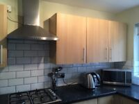 FOR SALE: Used B and Q oak effect kitchen units, cooker, hob, extractor fan, sink