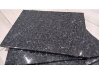 BLACK GRANITE PLACE MATS (set of 4) with matching coasters
