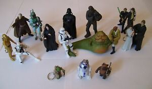 REDUCED 17 Star Wars Key Chain Figurines