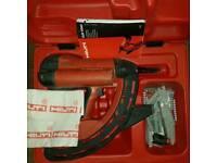 Hilti gas nail gun.