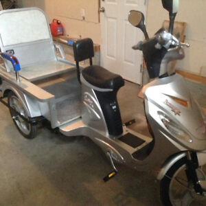 Electric trike 3 seater with manual pedal
