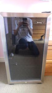 Danby Mini Fridge w/ glass door, perfect condition.
