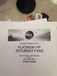Center of gravity snoop dog platinum VIP ticket