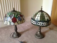 Two Tiffany Style Lamps (would sell separately)