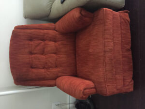Rocking recliner with foot rest