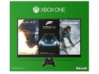 Microsoft XBOX ONE 500GB With Halo 5, Forza 6 & Tomb Raider Bundle (Game Download)