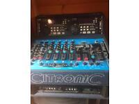 Dj equipment, 2000W Mcgregor amp Citronic karaoke mixer, pcdj dac3 USB controller, skytec speakers