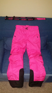 "Girls snow/ ski pants size 12 with 2"" extension"