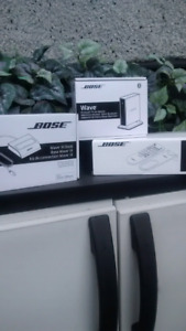 Bose wave three dock and wave bluetooth music adaper