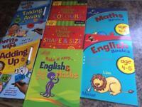 Summer homework books, maths, English, age 4-5yr x 7 NEW
