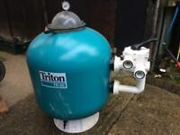 Swimming pool sand filter Triton TR60 for sale.