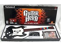 PlayStation 2 - Guitar Hero contoller & game