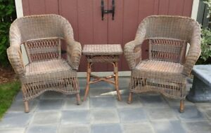 THREE PIECE WICKER SET