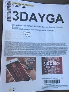 2 Big Valley Jamboree tickets