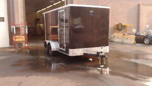 "7' x 14"" Enclosed Cargo Trailer with Ramp Door"