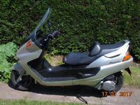 yamaha 250 majesty 1999 silver with mot