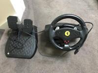 Trustmaster GT3 racing wheel. Pc/psx plugs