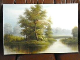 Landscape oil Painting by A. Darby