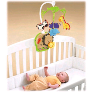 Musical mobile/baby bath/car seat head support
