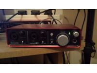 Focusrite Scarlett 2i2 USB Audio Interface With DAW Software Ableton Live Lite