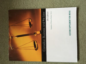 Canadian business and the law textbook, excellent condition