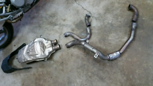 Ducati 749s full exhaust system