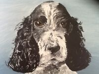 Pet portrait A4 size acrylic painting from photo