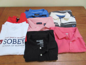 Selection of polo shirts (Med) - American Eagle, Old Navy, H & M