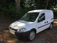 10 reg vauxhall combo crew van special order 1.7engine 2 owner fsh used for camping never a work van