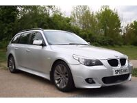 2005 BMW 5 SERIES 2.5 525d M Sport Touring 5dr MANUAL, DIESEL, 3 MONTHS WARRANTY. LOW MILEAGE