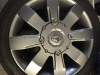 """Renault Sport Clio 182 Cup Anthracite 16"""" Wheels and Tyres 4 x 100"""