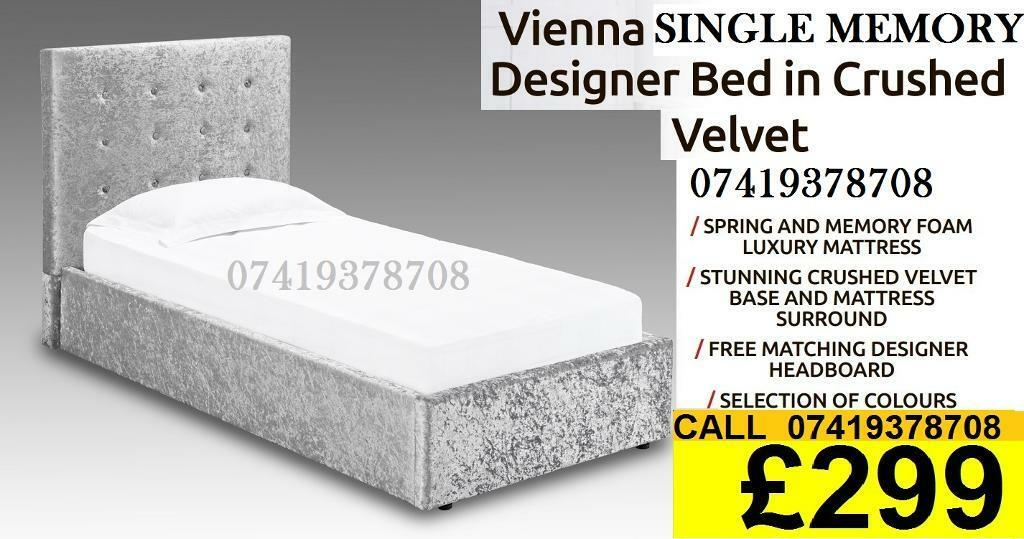 Special Offer Crush velvet Designer Double Single Kingsize Beddingin Barking, LondonGumtree - Single double and king size, metal, bunk bed frame.Please contact me if you are interested.Thanks