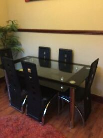 Dining table with under shelf 6 seats