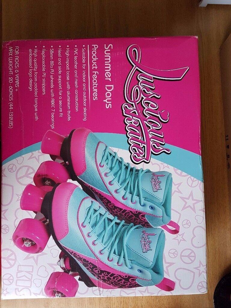 Luscious skates. funky retro quad inline skates UK size 5