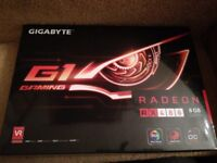 Gigabyte Radeon RX480 8gb Graphics card. Brand New. Perfect for gaming or mining.