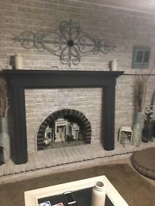 Nice grey fire place mantle