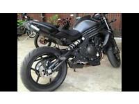 Kawasaki ER6n 2014 matt black motorbike