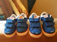 Infant Nike trainers size 3.5 and 4.5