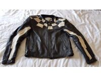 Vintage leather Triumph ladies motorbike jacket