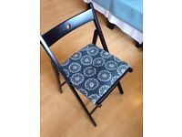 Black wood fold chair (urgent sale)