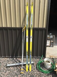 Cross Country Skis and poles for sale.  Spaulding