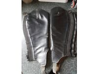 Tredstep leather gaiters/chaps